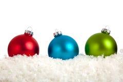 white för grupp för baublesjul färgrik Arkivfoto