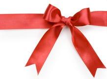 white för härlig bow för bakgrund röd Fotografering för Bildbyråer