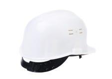 white för hård hatt Arkivbilder