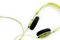white för headphone för bakgrund 3d isolerad bild Royaltyfri Bild