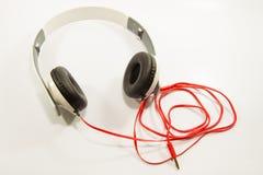 white för headphone för bakgrund 3d isolerad bild royaltyfri fotografi
