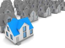white för hus för bakgrund 3d choice isolerad bild royaltyfri illustrationer