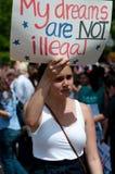 white för husinvandringprotest Royaltyfri Foto