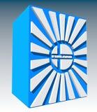 white för illustration för bakgrundsfinland flagga nationell Royaltyfri Foto