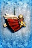 white för juldekorisolering Arkivfoto