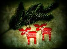 white för juldekorisolering Arkivbilder