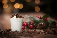 white för juldekorisolering fotografering för bildbyråer