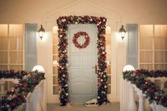white för juldekorisolering Royaltyfri Foto