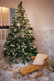 white för juldekorisolering Royaltyfri Bild