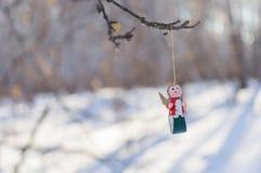 white för juldekorisolering Royaltyfria Foton