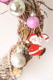 white för juldekorisolering claus santa Royaltyfria Foton