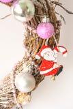 white för juldekorisolering claus santa Royaltyfri Bild