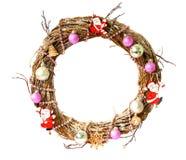 white för juldekorisolering claus santa Arkivbild