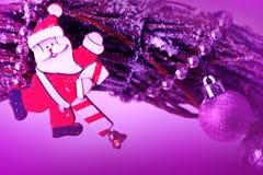white för juldekorisolering claus santa Fotografering för Bildbyråer