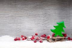 white för juldekorisolering kortjul som greeting Symbolxmas Arkivfoton