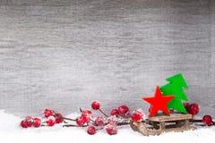 white för juldekorisolering kortjul som greeting Symbolxmas Arkivbilder