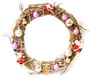 white för juldekorisolering Santa Claus och leksaker Royaltyfria Bilder