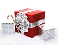 white för julgåvaisolering Royaltyfri Fotografi