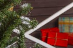 white för julgåvaisolering Royaltyfria Bilder