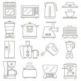 white för kök för anordningbakgrundsillustration Arkivfoto