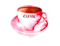 white för kaffekopp Arkivbilder