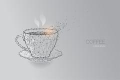 white för kaffekopp linje prickdesign Royaltyfri Fotografi