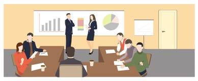 white för kontor för livstid för bild för bakgrund 3d royaltyfri illustrationer