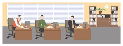 white för kontor för livstid för bild för bakgrund 3d Royaltyfria Bilder