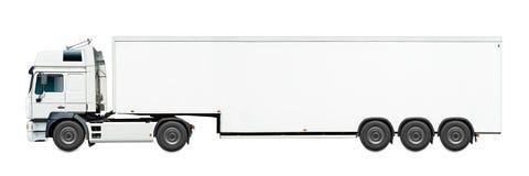 white för lastbil för annonseringmapp god Royaltyfri Foto