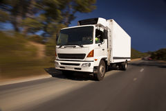 white för lastbil för annonseringmapp god Arkivbilder