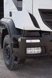 white för lastbil för annonseringmapp god Royaltyfria Bilder