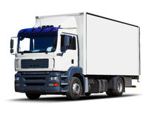 white för leveranslastbil Fotografering för Bildbyråer