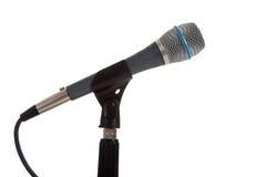 white för mic-mikrofonstand Royaltyfria Foton