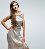 white för modemodell Royaltyfri Bild