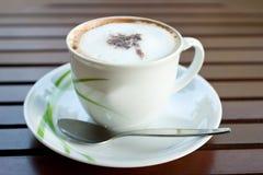 white för morgon för kaffekopp Fotografering för Bildbyråer