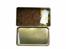 white för objekt för bakgrundsfall cigarett isolerad Fotografering för Bildbyråer