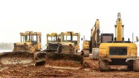 white för objekt för maskineri för bakgrundskonstruktion grävskopa isolerad Arkivbild