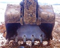 white för objekt för maskineri för bakgrundskonstruktion grävskopa isolerad Royaltyfri Bild