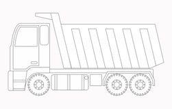 white för objekt för maskineri för bakgrundskonstruktion grävskopa isolerad lastbil Färga sidor för barn Arkivbilder