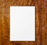 white för paper tabell Royaltyfri Fotografi
