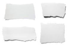 white för papper för bakgrundsmeddelandeanmärkning riven sönder Royaltyfri Foto