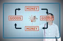 white för pengar för godor för bakgrund 3d bild isolerad Fotografering för Bildbyråer