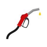 white för pump för bakgrundsbildetalj bränsle isolerad Dysa för bensinbensinstationtecken med droppe Royaltyfri Bild