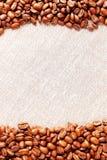 white för ram för bakgrundsbönakaffe Royaltyfri Bild