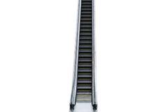 white för rulltrappa för bakgrund 3d isolerad bild Arkivfoto