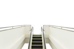 white för rulltrappa för bakgrund 3d isolerad bild Arkivfoton