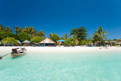 white för sand för paradis för strandkolipe Royaltyfri Fotografi