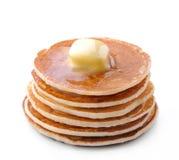 white för serie för pannkakor för skräp för bakgrundsmatbild arkivfoton