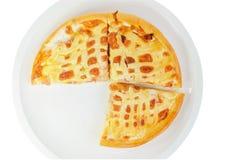 white för serie för pizza för bakgrundssnabbmatbild Arkivbilder
