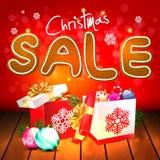 white för shopping för försäljning för bakgrundsjulflicka lycklig Royaltyfri Fotografi